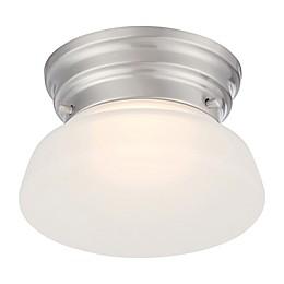 Filament Design 1-Light LED Flush-Mount Ceiling Light in Brushed Nickel
