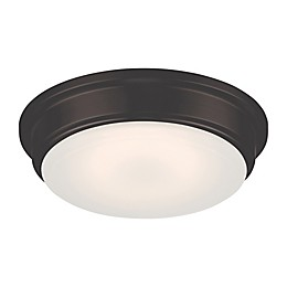 Filament Design Domed LED Flush-Mount Light in Bronze with Frosted Glass Shade