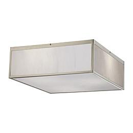 Filament Design 17-Inch 3-Light LED Flush-Mount Ceiling Fixture in Brushed Nickel