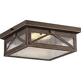 Filament Design Umber Bay 1-Light LED Flush-Mount Ceiling Fixture in Brown