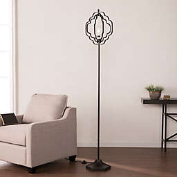 Southern Enterprises Lysander Geometric Floor Lamp in Black