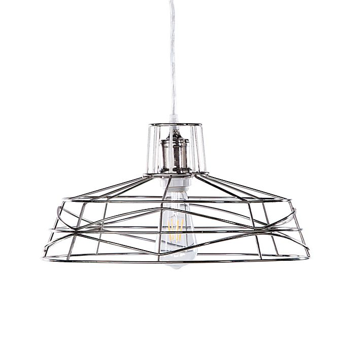 Alternate image 1 for Southern Enterprises Lambro Wire Cage Pendant Lamp in Nickel