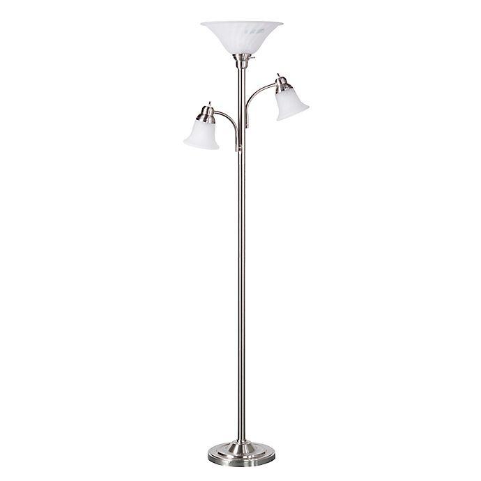 Southern Enterprises Orson 3-Light Floor Lamp In Brushed