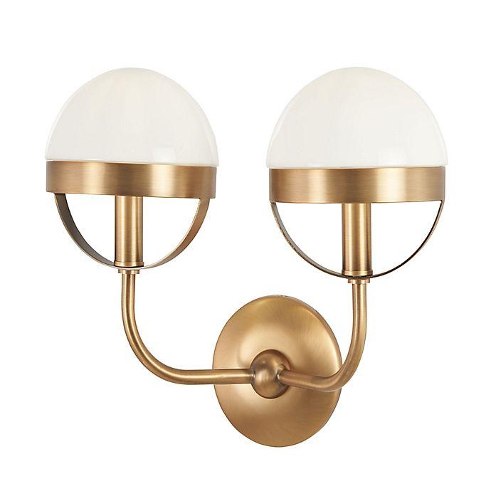 Alternate image 1 for Minka Lavery Tannehill 2-Light Wall Sconce in Noble Brass