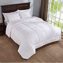 Puredown 400-Thread-Count Down Alternative Year Round Full/Queen Comforter in White