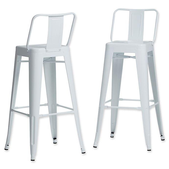 Alternate image 1 for Simpli Home™ Stools (Set of 2)