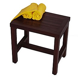 EcoDecors™ Classic 18-Inch Teak Shower Bench in Brown