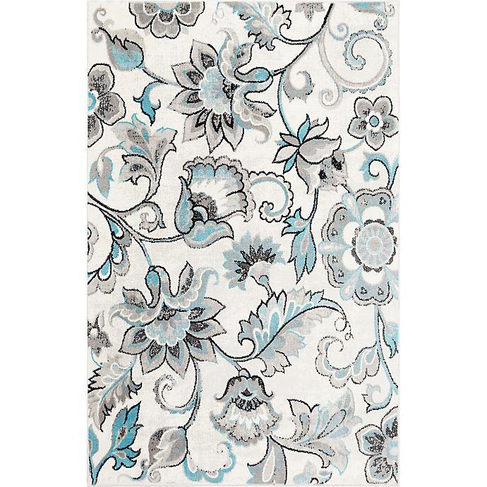Alternate image 1 for Home Dynamix Boho Floral 7'9 x 10'2 Area Rug in Ivory/Blue