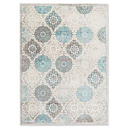 Home Dynamix Boho Patterned Area Rug in Grey/Blue