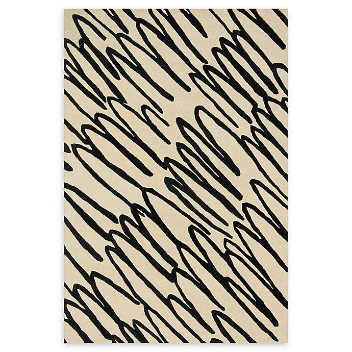 Alternate image 1 for Loloi Rugs Nova 3'6 x 5'6 Hand-Tufted Area Rug in Ivory/Black