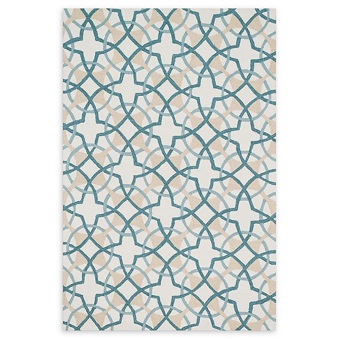 Loloi Rugs Francesca Handcrafted Accent Rug In Ivory/Teal