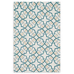 Loloi Rugs Francesca Area Rug in Ivory/Teal