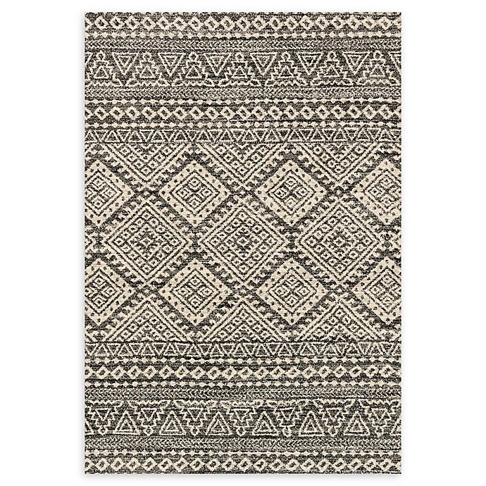 Alternate image 1 for Loloi Rugs Emory 3'10 x 5'7 Loomed Area Rug in Graphite/Ivory
