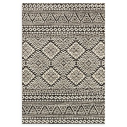 Loloi Rugs Emory Loomed Area Rug in Graphite/Ivory