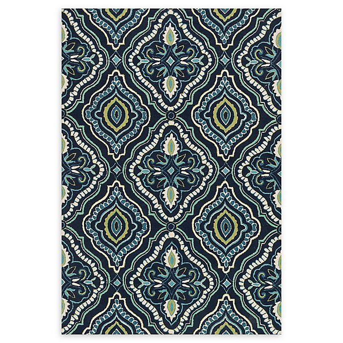 Alternate image 1 for Loloi Rugs Francesca 2'3 x 3'9 Handcrafted Accent Rug ni Navy/Aqua