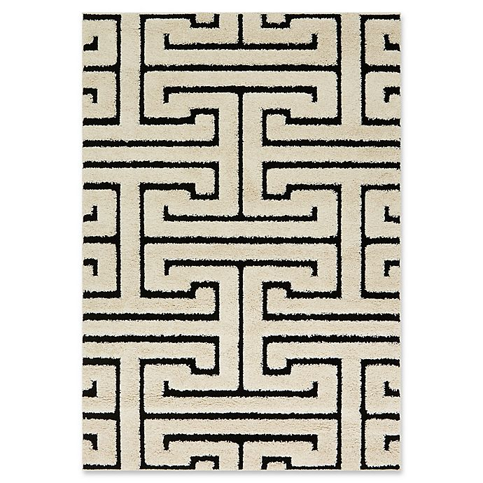 Alternate image 1 for Loloi Rugs Enchant Shag 7'7 x 10'6 Area Rug in White/Black