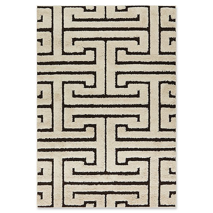 Alternate image 1 for Loloi Rugs Enchant Shag 7'7 x 10'6 Area Rug in Ivory/Dark Brown