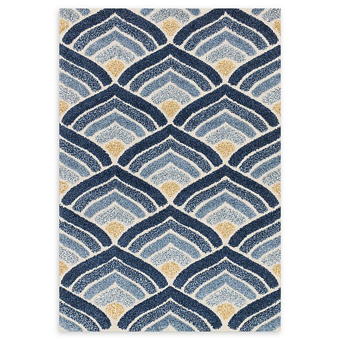 Alternate image 1 for Loloi Rugs Enchant Abstract 3'10 x 5'7 Area Rug in Ivory/Blue