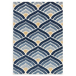 Loloi Rugs Enchant Abstract Rug in Ivory/Blue