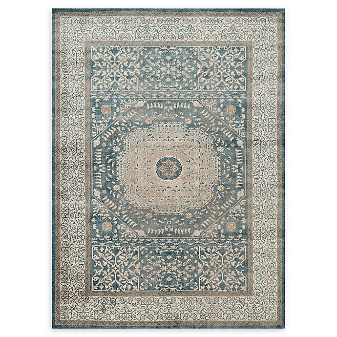 Alternate image 1 for Loloi Rugs Century Medallion Rug in Blue/Sand
