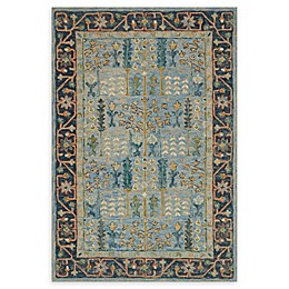 Loloi Rugs Victoria Handcrafted Rug in Light Blue/Dark Blue