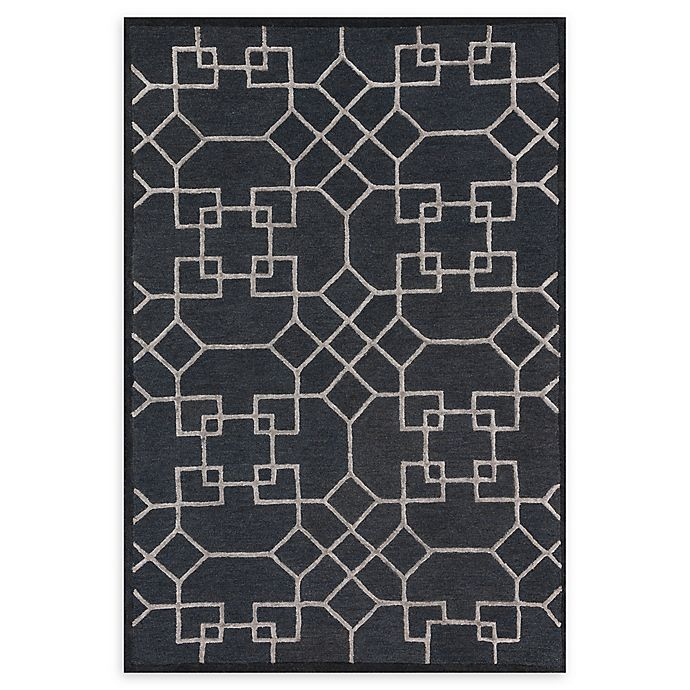 Alternate image 1 for Loloi Rugs Panache Geometric 2'3 x 3'9 Accent Rug in Charcoal/Silver