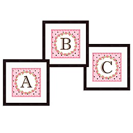 Monogram Rose Initial Wall Art