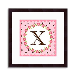 "Monogram Rose Initial ""X"" Wall Art"