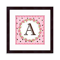 "Monogram Rose Initial ""A"" Wall Art"
