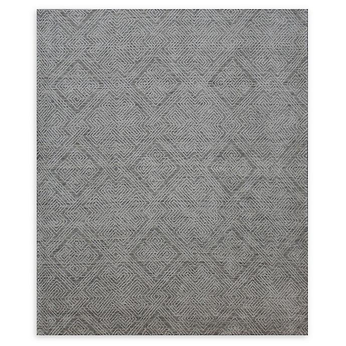 Alternate image 1 for Natori® Shangri-La Interlock Hand-Loomed Area Rug in Grey