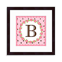 "Monogram Rose Initial ""B"" Wall Art"