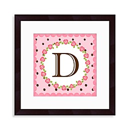 "Monogram Rose Initial ""D"" Wall Art"