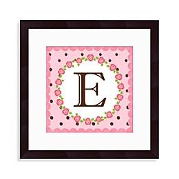 "Monogram Rose Initial ""E"" Wall Art"