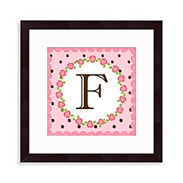 "Monogram Rose Initial ""F"" Wall Art"