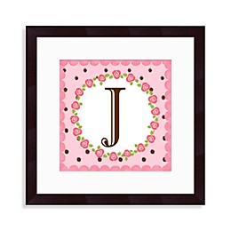 "Monogram Rose Initial ""J"" Wall Art"