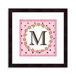 """Monogram Rose Initial """"M"""" Wall Art"""