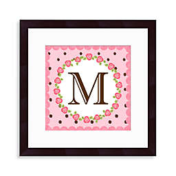"Monogram Rose Initial ""M"" Wall Art"
