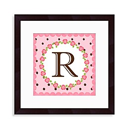 "Monogram Rose Initial ""R"" Wall Art"