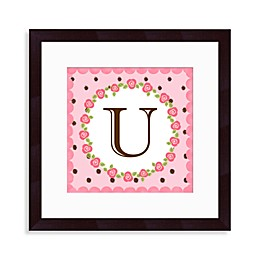 "Monogram Rose Initial ""U"" Wall Art"