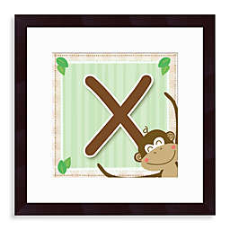 "Monogram Monkey Initial ""X"" Wall Art"