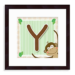"Monogram Monkey Initial ""Y"" Wall Art"