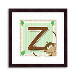 "Monogram Monkey Initial ""Z"" Wall Art"