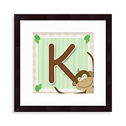 "Monogram Monkey Initial ""K"" Wall Art"