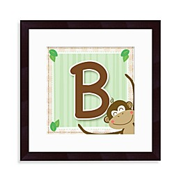 "Monogram Monkey Initial ""B"" Wall Art"
