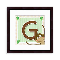 "Monogram Monkey Initial ""G"" Wall Art"