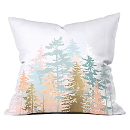 Deny Designs Iveta Abolina Blush Forest 18-Inch Square Throw Pillow in Pink