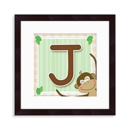 "Monogram Monkey Initial ""J"" Wall Art"