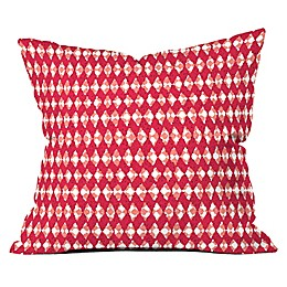 Deny Designs Ingrid Padilla Holiday Square Throw Pilllow in Red
