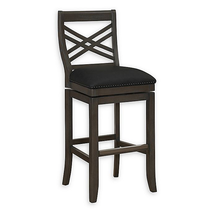 Alternate image 1 for American Heritage Billiards Mason Memory Foam Bar Stool in Glacier/Graphite