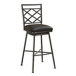 American Heritage Billiards Sydney Stool in Rustic Pewter/Charcoal